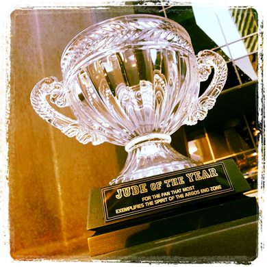 Jube of the Year Trophy for Argos SuperFan