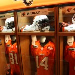 BC Lions dressing room - Grey Cup Train